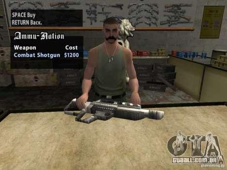 Pancor Jackhammer para GTA San Andreas por diante tela