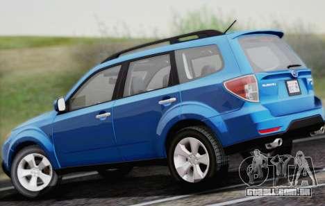 Subaru Forester XT 2008 para GTA San Andreas vista traseira