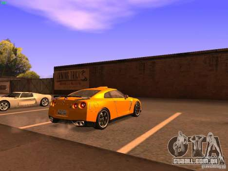Nissan GT-R SpecV Black Revel para GTA San Andreas traseira esquerda vista
