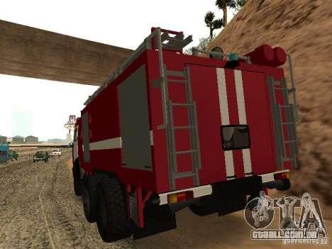 KAMAZ 53229 bombeiro para GTA San Andreas esquerda vista