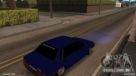 BAZ 21099 para GTA San Andreas traseira esquerda vista