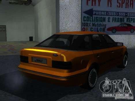 Ford Sierra Mk1 Sedan para GTA San Andreas traseira esquerda vista