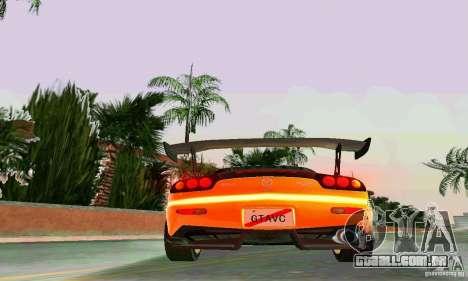 Mazda RX7 RE-Amemiya para GTA Vice City vista superior