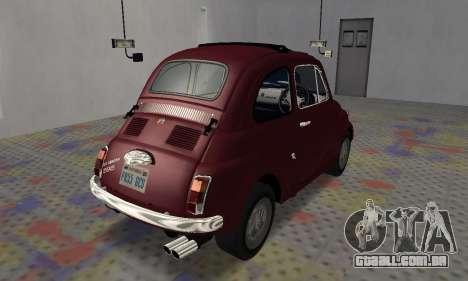Fiat Abarth 595 SS 1968 para GTA San Andreas traseira esquerda vista