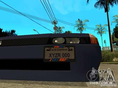 Elegy JDM para GTA San Andreas vista traseira