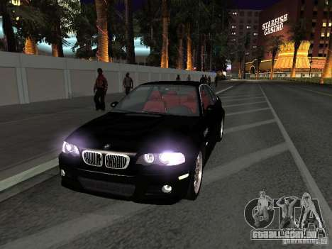 BMW M3 GT-R Stock para GTA San Andreas vista interior