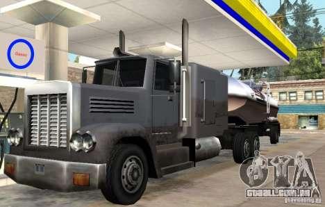 Packer Truck para GTA San Andreas traseira esquerda vista