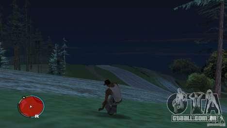 GTA IV HUD para um ecrã largo (16:9) para GTA San Andreas terceira tela
