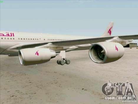 Airbus A-340-600 Quatar para GTA San Andreas vista traseira
