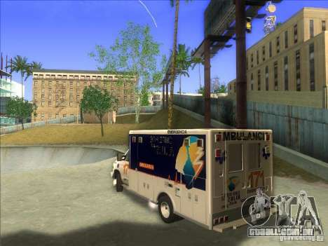 Ford E-350 Ambulance para GTA San Andreas esquerda vista