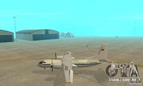Antonov an-24 para GTA San Andreas esquerda vista