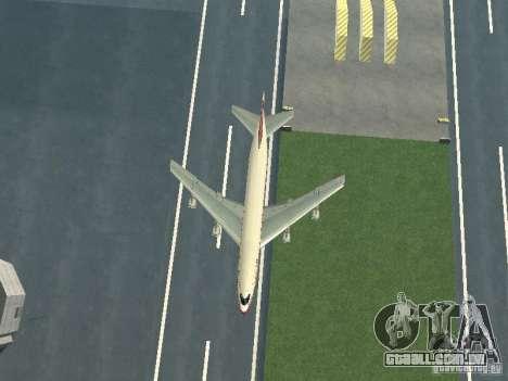 Boeing 747-100 para GTA San Andreas vista interior