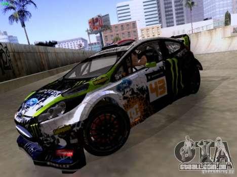 Ken Block Ford Fiesta 2012 para GTA San Andreas vista traseira