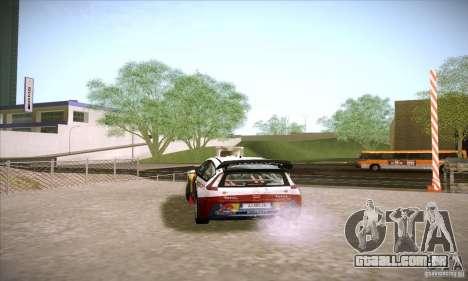 Citroen C4 WRC para GTA San Andreas vista direita