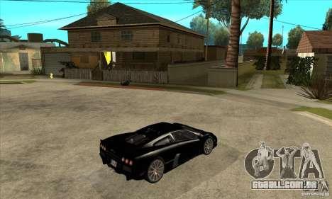 SSC Ultimate Aero Stock version para GTA San Andreas vista direita