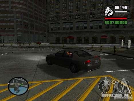 Ford Falcon XR8 para GTA San Andreas traseira esquerda vista
