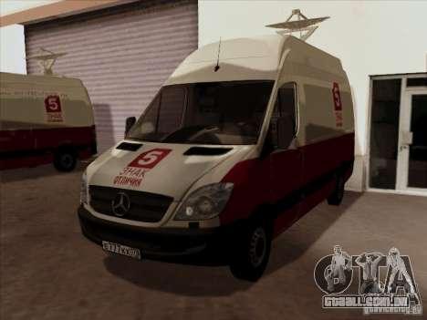 Mercedes-Benz Sprinter 5 canal para GTA San Andreas