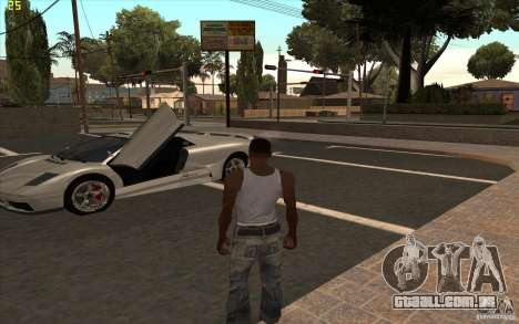 Infernus do GTA 4 para GTA San Andreas esquerda vista