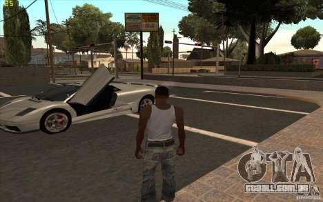 Infernus do GTA 4 para GTA San Andreas esquerda vista