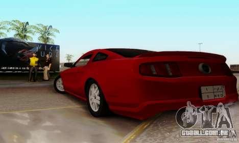 Ford Mustang 2010 para GTA San Andreas esquerda vista