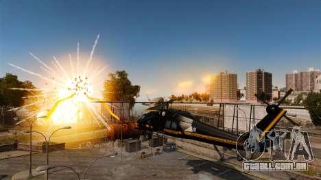 Um helicóptero com um RPG para GTA 4 esquerda vista