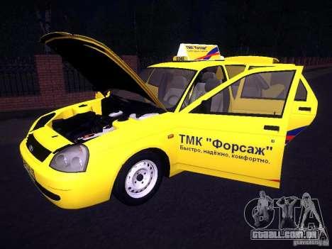 LADA Priora 2170 táxi TMK Afterburner para GTA San Andreas vista inferior