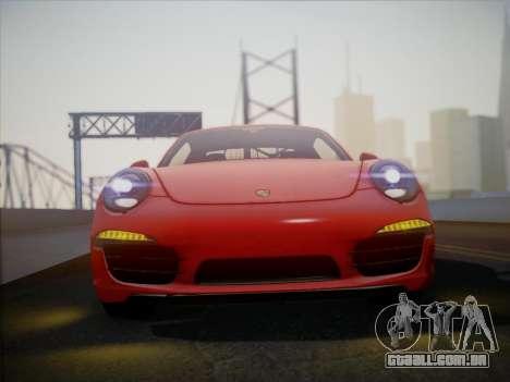 Porsche 911 (991) Carrera S para GTA San Andreas traseira esquerda vista