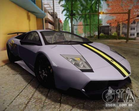Lamborghini Murcielago LP 670/4 SV Fixed Version para GTA San Andreas vista traseira