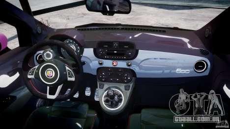 Fiat 500 Abarth SS para GTA 4 traseira esquerda vista