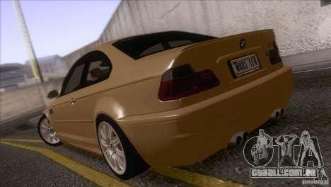 BMW M3 E48 para GTA San Andreas traseira esquerda vista