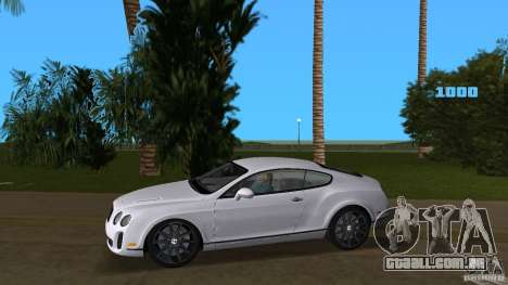 Bentley Continental Supersport para GTA Vice City deixou vista