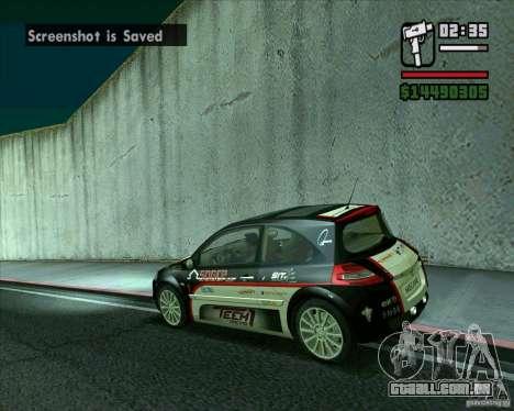 Renault Megane II RS para GTA San Andreas esquerda vista