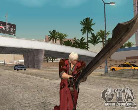 Nero sword from Devil May Cry 4 para GTA San Andreas segunda tela