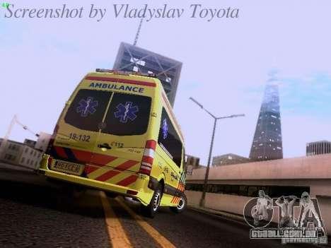Mercedes-Benz Sprinter Ambulance para GTA San Andreas vista direita