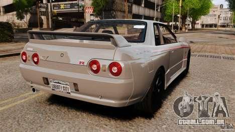 Nissan Skyline GT-R (BNR32) para GTA 4 traseira esquerda vista