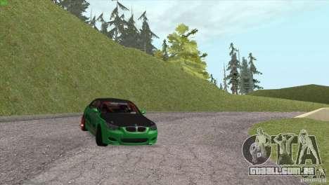 BMW M5 E60 Darius Balys para GTA San Andreas vista superior