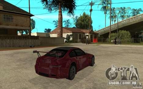 BMW M3 2009 para GTA San Andreas vista direita
