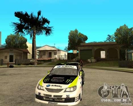 Ken Block Subaru Impreza WRX STi 2009 para GTA San Andreas vista traseira