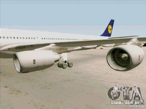 Airbus A-340-600 Lufthansa para GTA San Andreas vista traseira