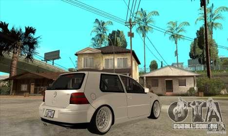 VW Golf 4 V6 Bolf para GTA San Andreas vista direita