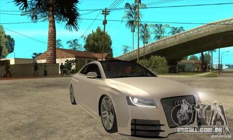 Audi S5 Quattro Tuning para GTA San Andreas vista traseira
