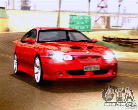 Vauxhall Monaro VXR para GTA San Andreas traseira esquerda vista