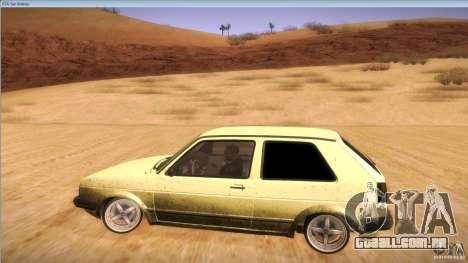 Volkswagen Golf MK II para GTA San Andreas vista interior