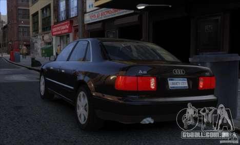 Audi A8 2000 para GTA 4 esquerda vista