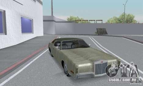 Lincoln Continental Mark IV 1972 para GTA San Andreas vista superior