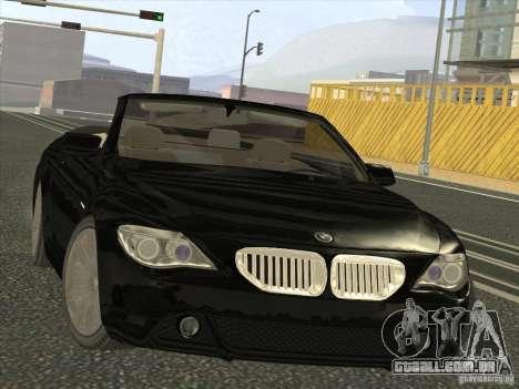 BMW 650I para GTA San Andreas vista traseira
