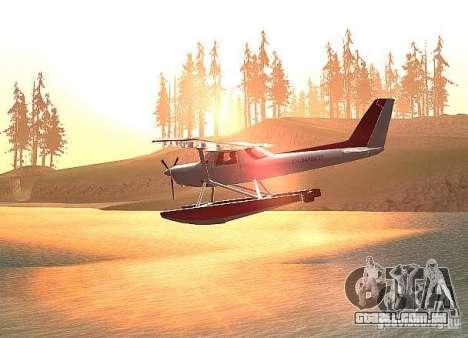 Opção de água Cessna 152 para GTA San Andreas esquerda vista