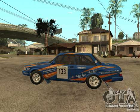 Volvo 242 Lightspeed Rally Edition para GTA San Andreas esquerda vista
