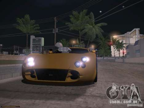 TVR Cerbera Speed 12 para GTA San Andreas vista superior
