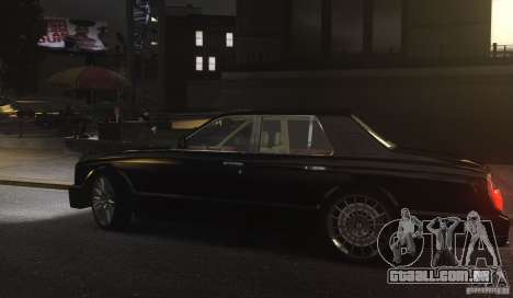 Bentley Arnage T v 2.0 para GTA 4 vista de volta